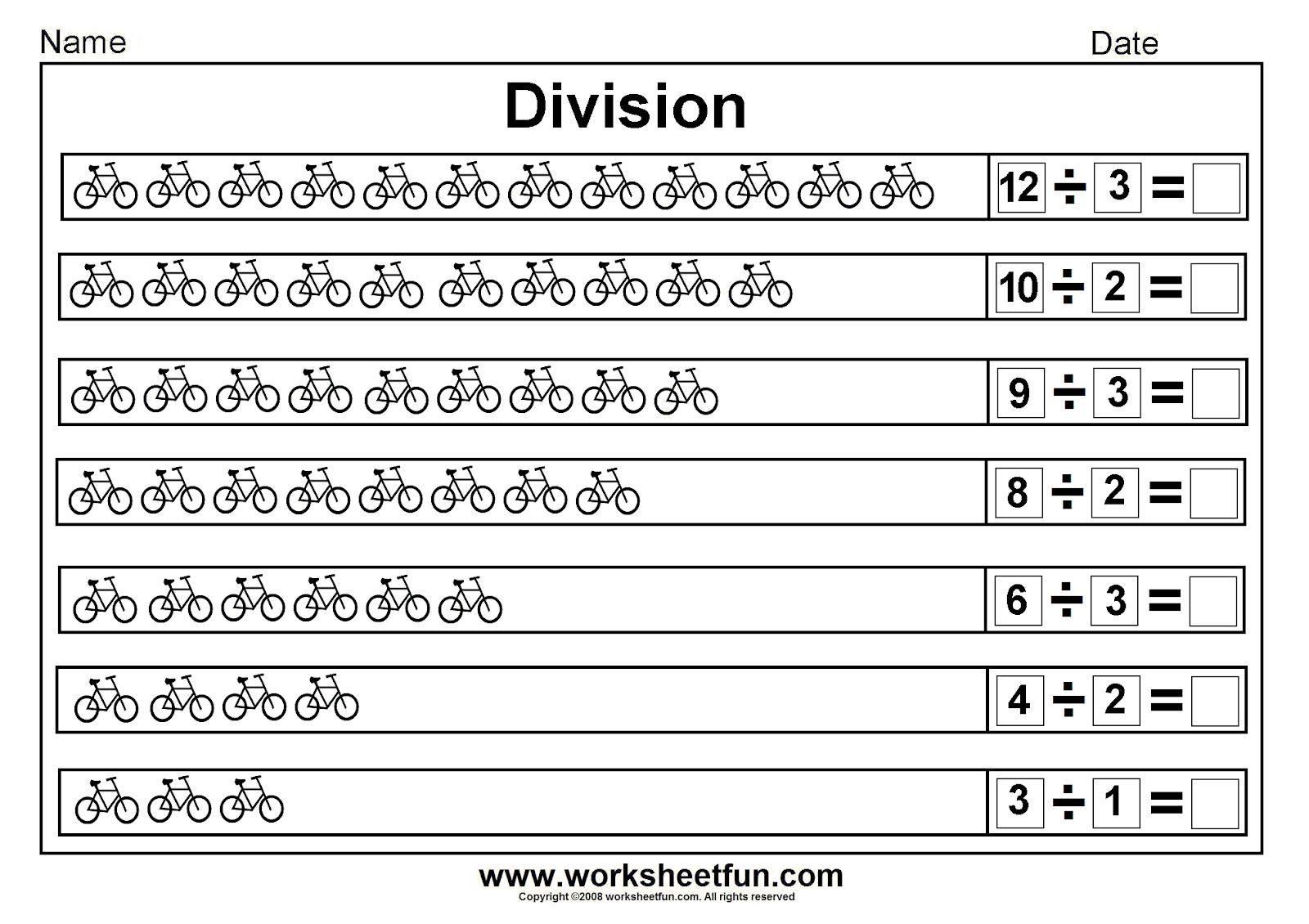Division Worksheets Division Worksheets Worksheets For Division Worksheet Division Matematika Pendidikan Lembar Kerja