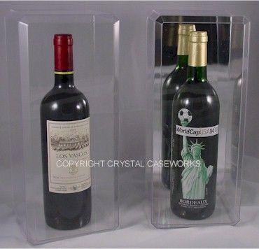 Single Wine Liquor Bottle Acrylic Display Case