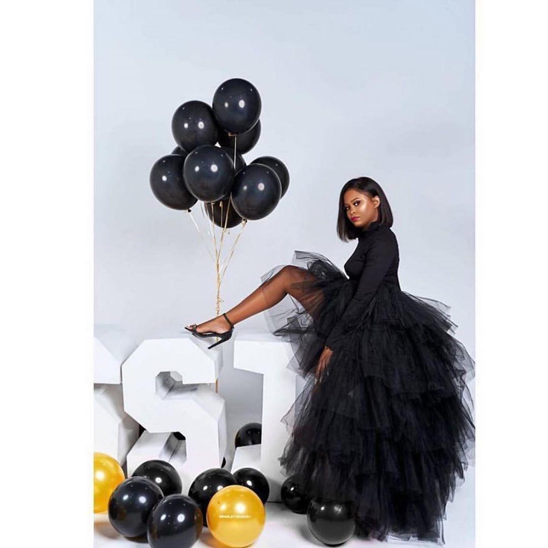 Black Tulle Skirt Long Skirts Satin Skirts Sk90 Cocopromdress 21st Birthday Photoshoot Tulle Skirt Black Birthday Photoshoot [ 1080 x 1080 Pixel ]