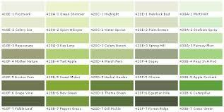 Green Colour Chart Google Search
