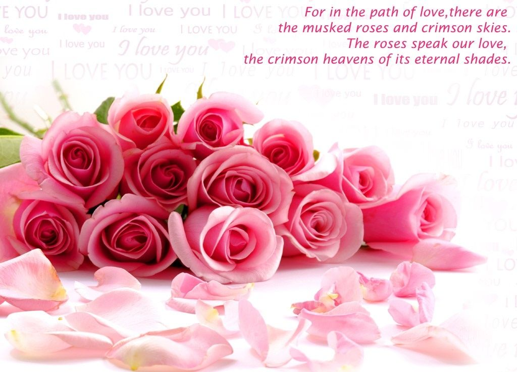 Charmant Flowers Love Quotes Wallpaper