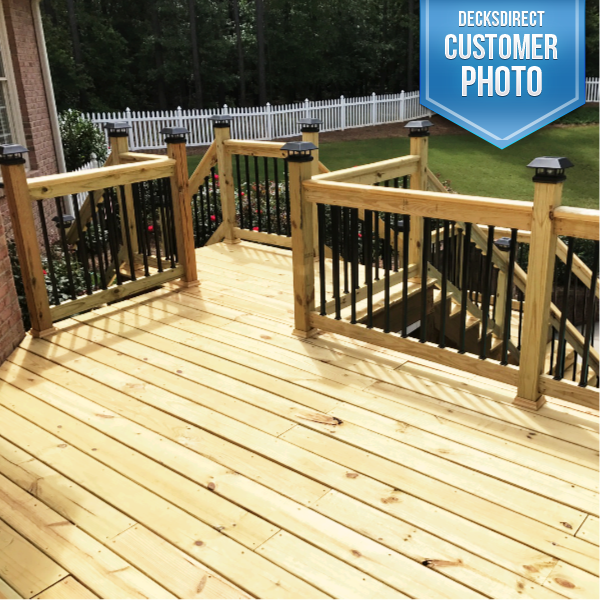 Deck Baluster Image Gallery Square Balusters Decksdirect Deck Balusters Decks Backyard Deckorators