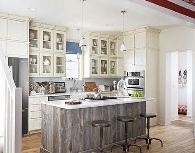I Love The Idea Of Using A Combination Of White Kitchen Cabinets