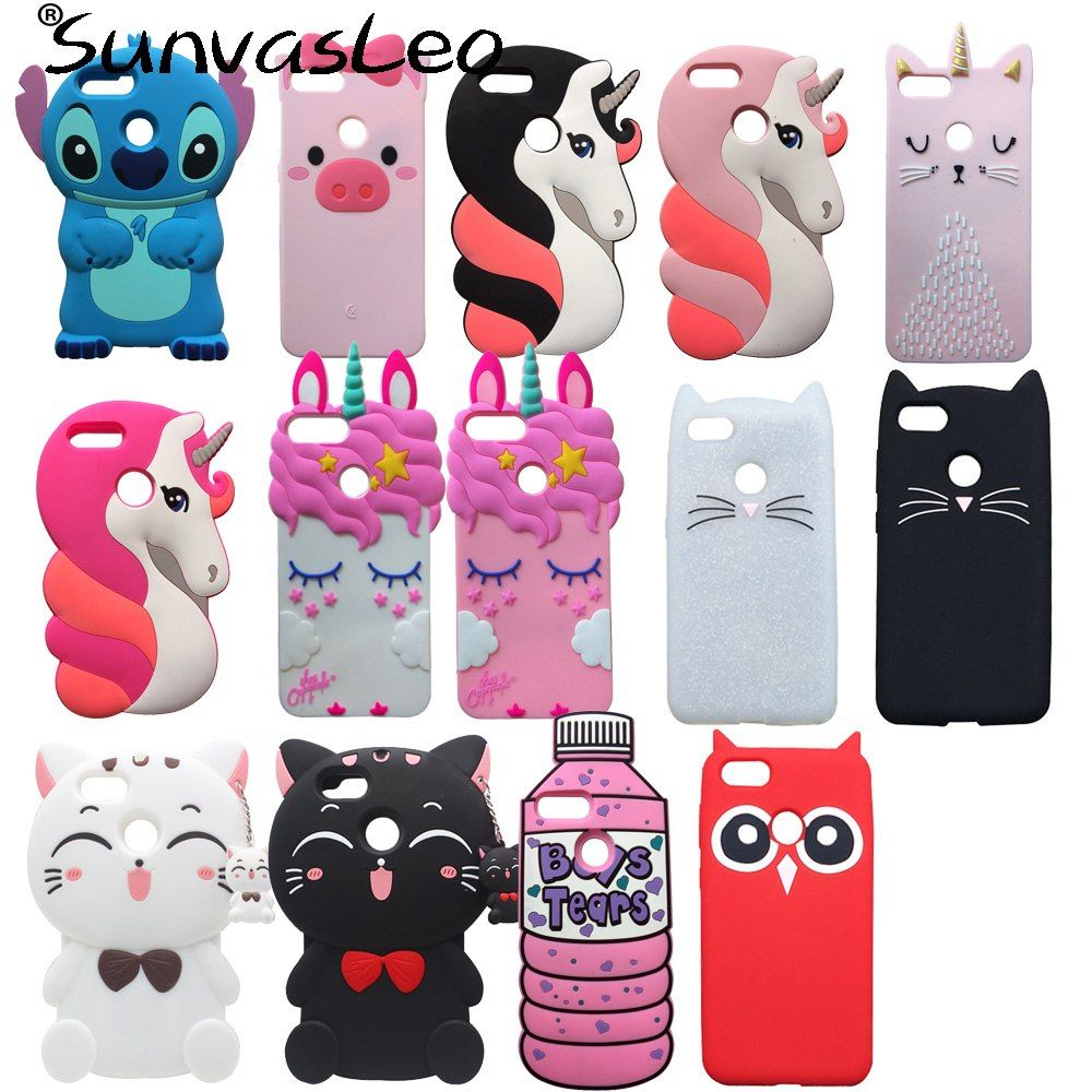 For Huawei P Smart 5 65 3d Case Cover Soft Silicone Pretty Unicorn Cartoon Cell Phone Back Skin Shell For Huawei Honor 9 Lit Phone Covers Soft Silicone Huawei