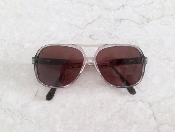 70\'s Two Tone Aviator Eyeglasses - aviator style oversized square ...