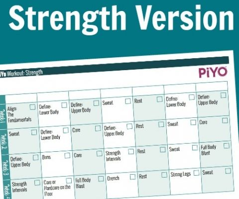 PiYo Workout Calendar Exercise And Fitness Pinterest Piyo
