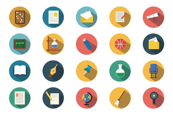 Education Icons Sets by firststyles on @creativemarket