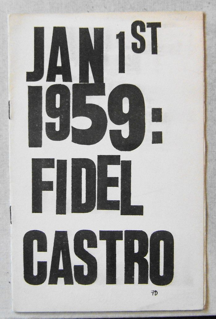 Beat poetry pamphlet entitled JAN 1ST 1959:  FIDEL CASTRO.  Published by LeRoi Jones and Totem Press in 1959.