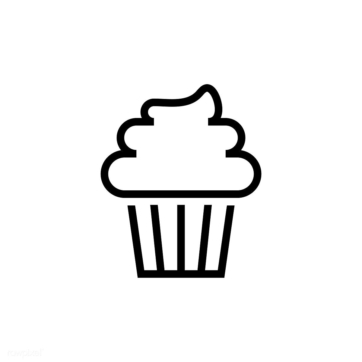 Cupcake With Frosting Icon Vector Free Image By Rawpixel Com Ningzk V Cake Icon Cupcake Logo Cupcake Vector