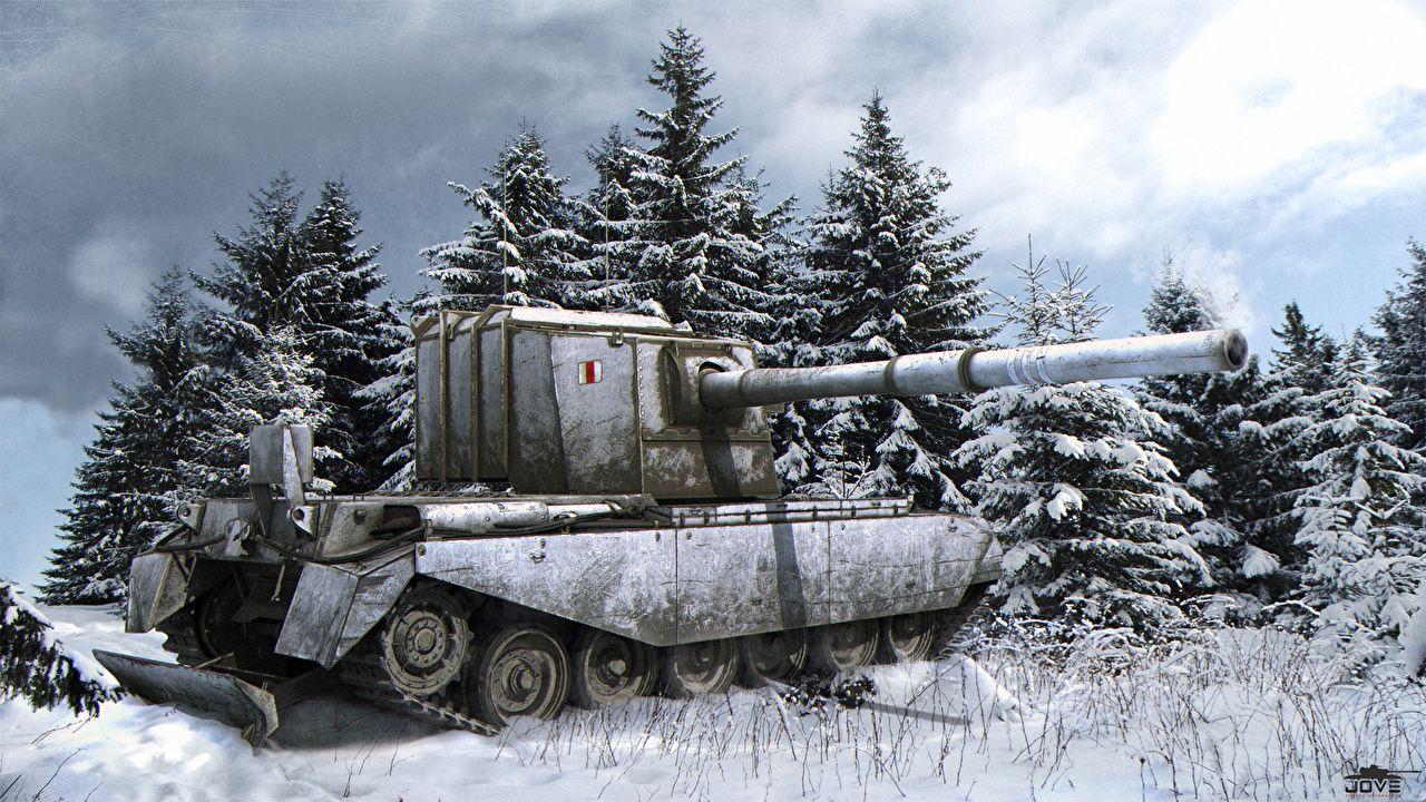 f5e00f102c7b Photos WOT Tanks FV4005 Stage II 3D Graphics Snow Games World of Tanks