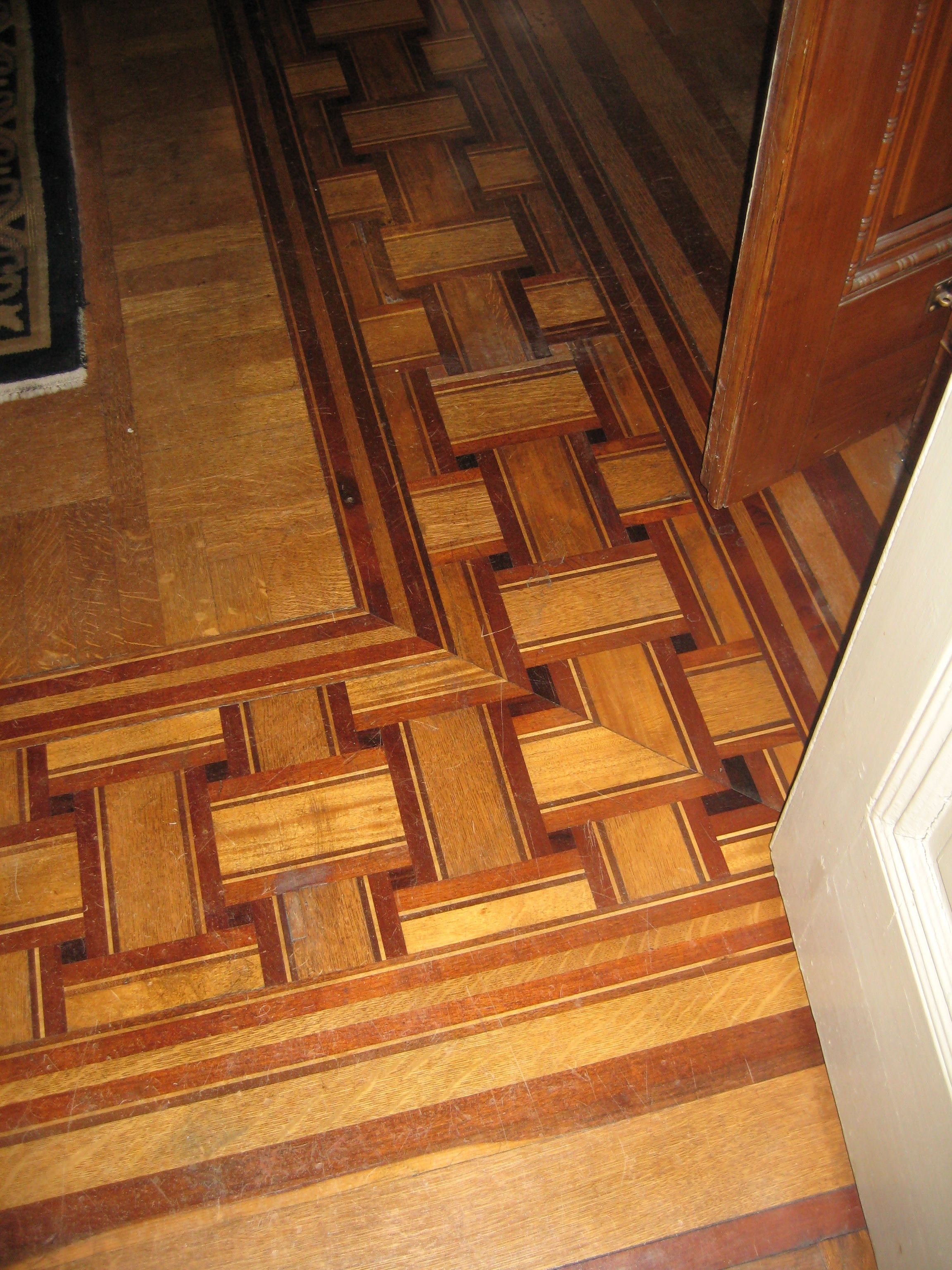 Wood Floor Inlay Ideas For Faux Inlay Wentworth Mansion