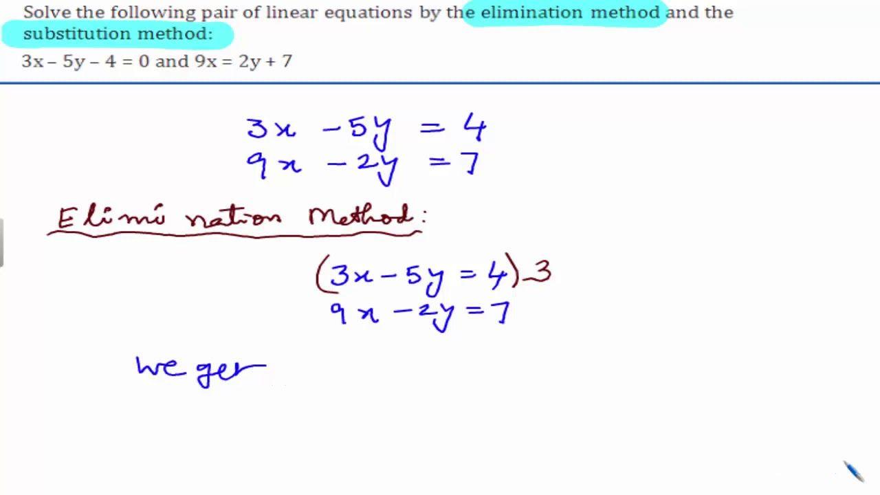 Cbse class 10 maths ncert solutions pair of linear