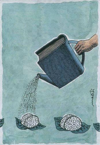 Leer y escribir hacen bien a la salud.
