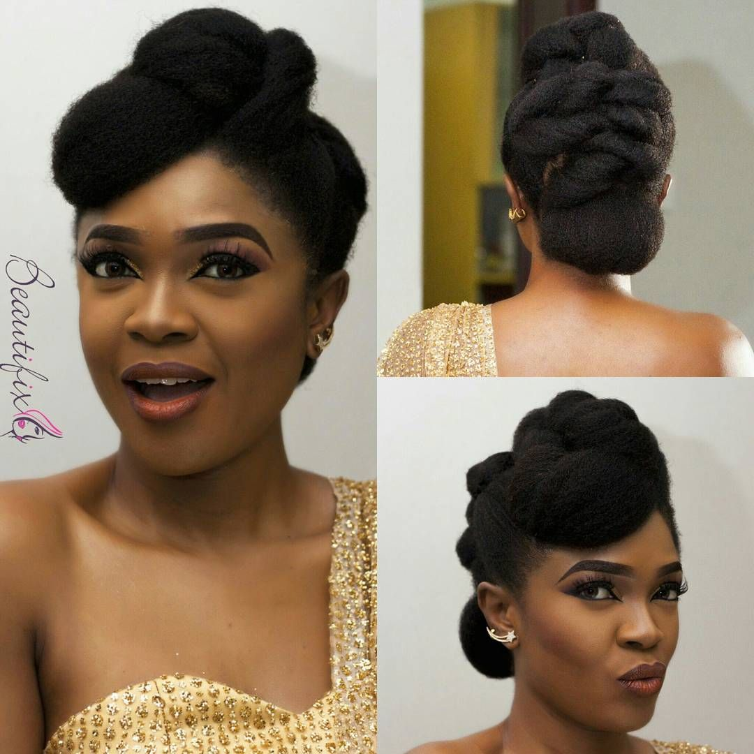 Omoni Oboli Is Serving Us Some Chic And Classy Natural Hair Style Wedding Digest Naija Natural Hair Bride Natural Hair Styles Natural Hair Wedding