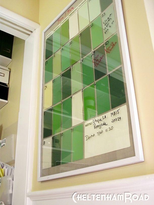 Workroom Makeover Paint Chip Calendar
