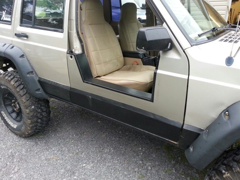 Home Made Jeep Cherokee Half Doors Jeep Doors Jeep Xj Jeep Xj Mods