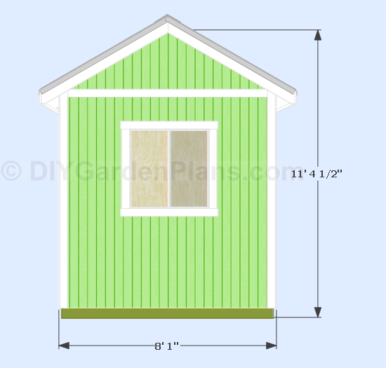 Diy 10x8 Gable Shed Side View In 2020 Shed Shed Plans Diy Shed