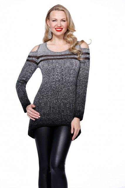Belldini cut out shoulder sweater is a fashion-forward twist on a classic style!