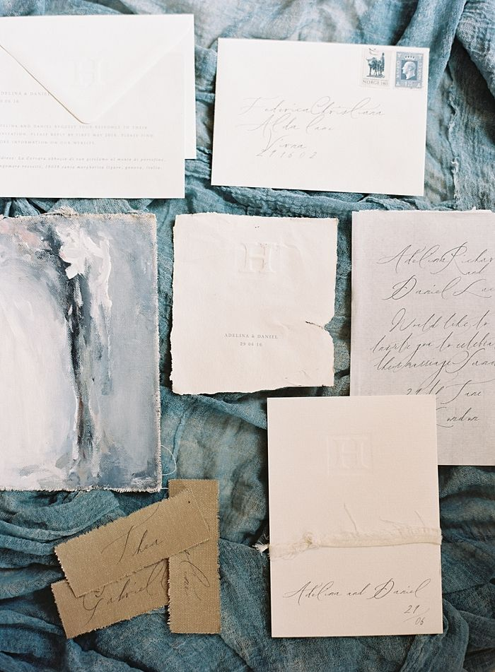 Fine Art Nautical and Blue Wedding Stationery & Calligraphy | Cutty Sark Wedding London Inspiration Shoot by Natasha Hurley Photography | Stationery by The Little North Sea Studio