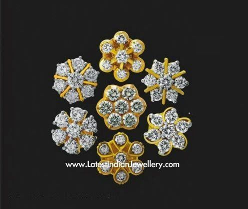 7 Stone Diamond Earrings