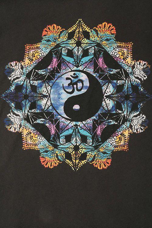 ॐ American Hippie Psychedelic Mandala Ying Yang Om