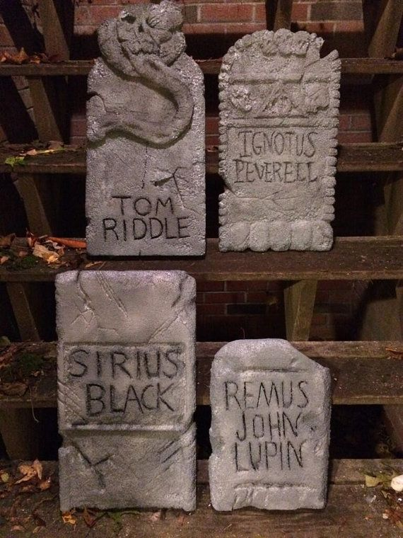 Awesome Harry Potter inspired gravestones  Great by HarryHalloween, $55.00