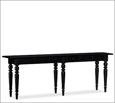 Tivoli Large Console Table, Artisanal Black stain   Console tables ...