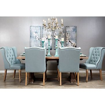 Archer Side Chair  Venetian Blue  Dining Chairs  Dining Room Unique Side Chairs Dining Room Inspiration Design