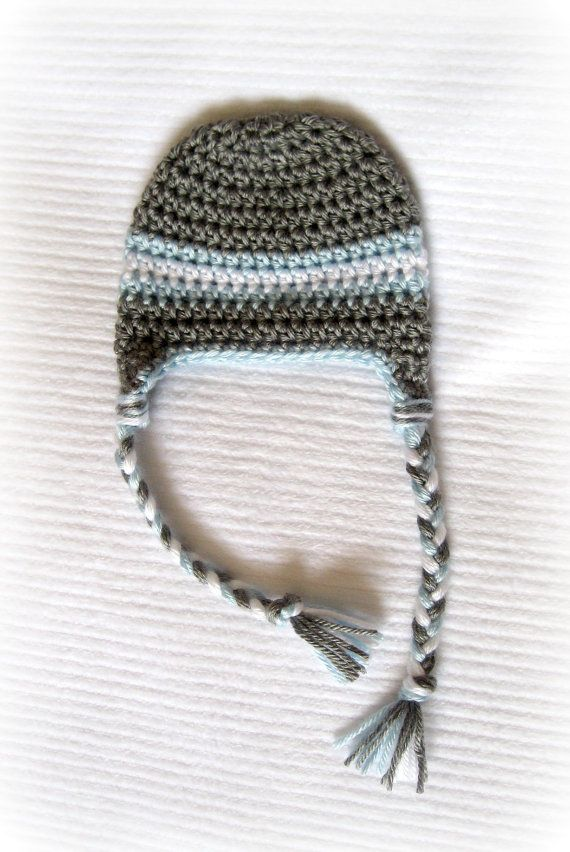 Crochet Baby Boy Earflap hat   Baby Nicholas   Pinterest   Gorros