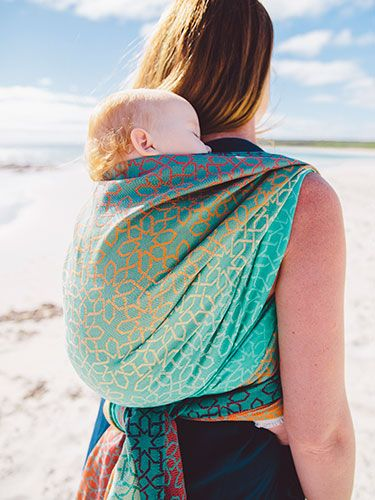 51709e611b2 Marakesh Cairns Organic Cotton Baby Wrap by Oscha Slings Echarpe Porte Bebe