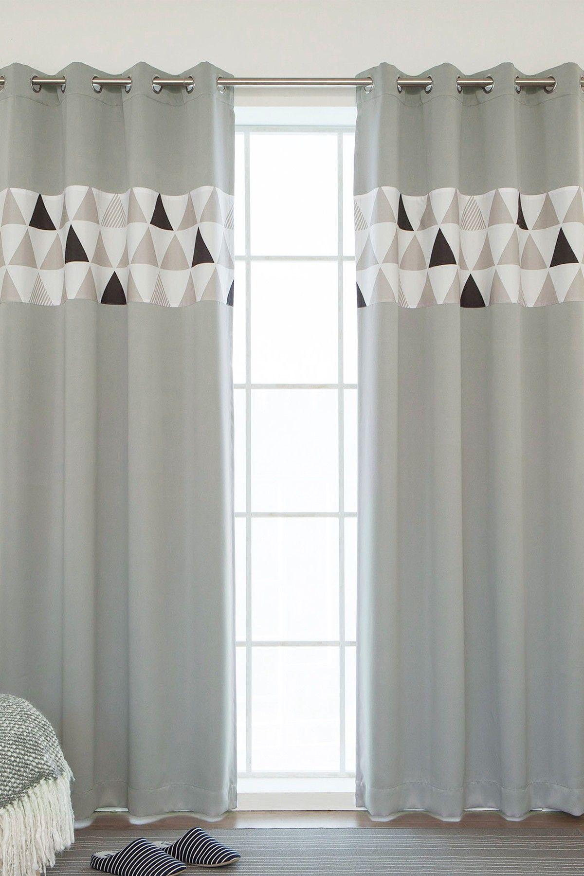 Best Home Fashion Inc Scandinavian Triangle Stripe Grommet