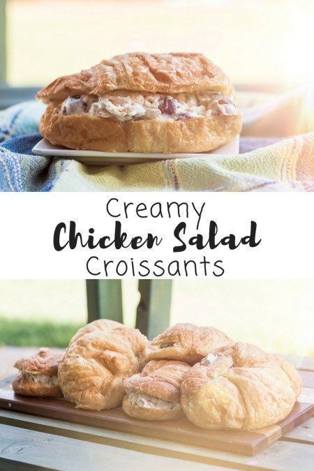 The Best Creamy Chicken Salad #labordayfoodideas Looking for Labor Day food ideas? Enjoy a creamy chicken salad sandwich with this easy recipe! Make ahead food that is ready to take to your next party! This recipe for chicken salad on croissants is so easy and so delicious! #chickensalad #chicken #recipe #recipeoftheday #sandwich #easyrecipes #sixcleversisters #labordayfoodideas