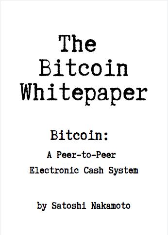 bitcoin whiteper