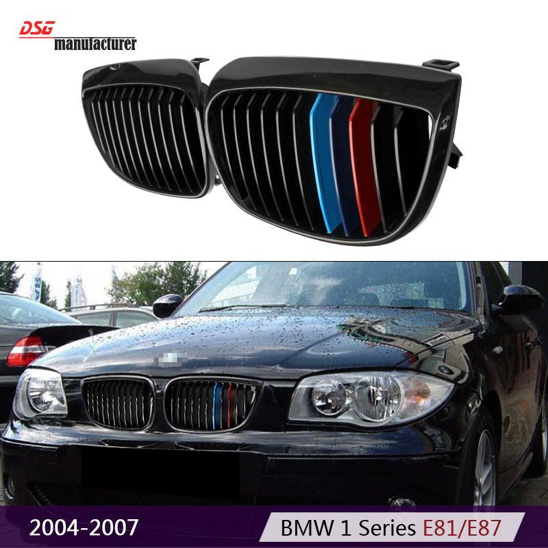 E81 Black M Tri Color Abs Sytling Car Grill Grille For Bmw 1