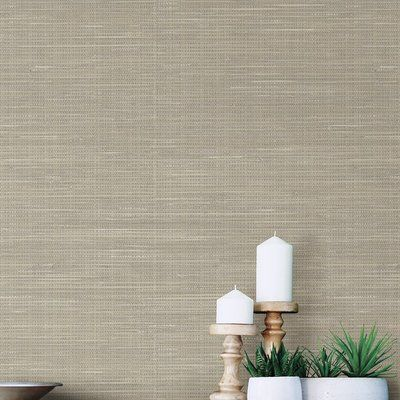 Hazelwood home wheat grasscloth x 52cm peel and stick for Self stick grasscloth wallpaper