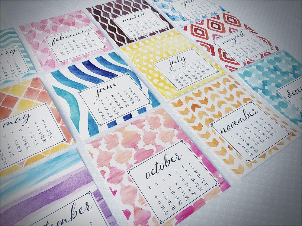 2015 Desktop Calendars for Art Paper Scissors $15.00 https://www.etsy.com/listing/201312993/2015-desktop-calendar?