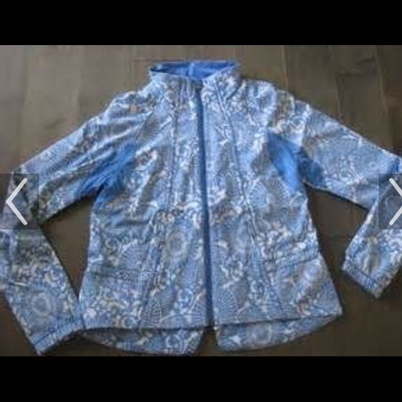 Lululemon travel to track jacket in beachy floral. Great condition, size 8, only worn a couple times.  Nice light jacket. lululemon athletica Jackets & Coats