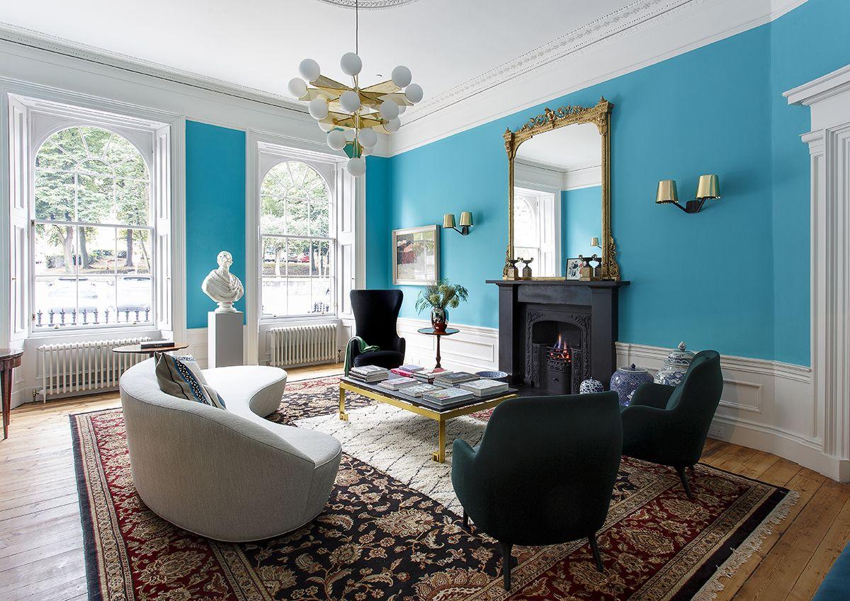 Tour This Colorful Georgian Home In Edinburgh | Edinburgh, Georgian ...