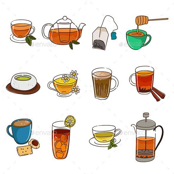 tea icons tea wallpaper tea art drawings pinterest