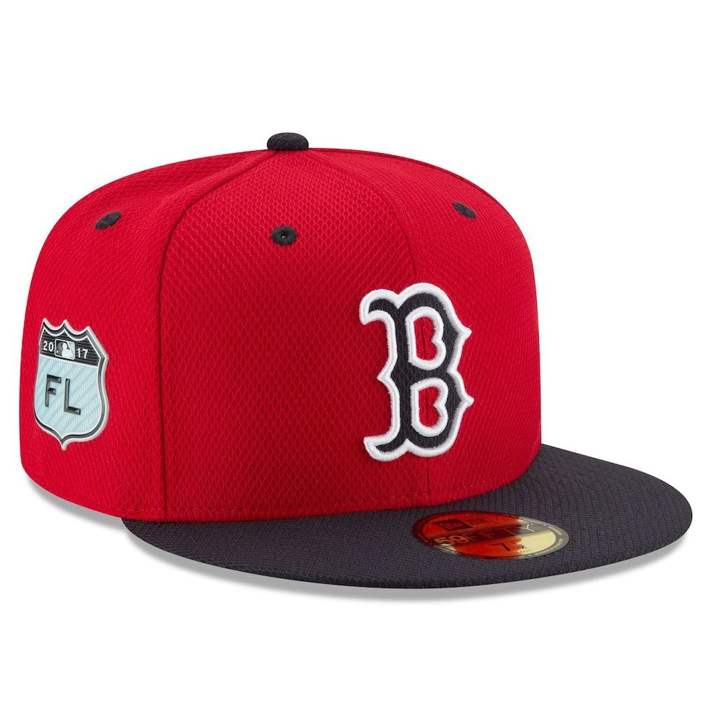 Men S New Era Red Boston Red Sox 2017 Spring Training Diamond Era