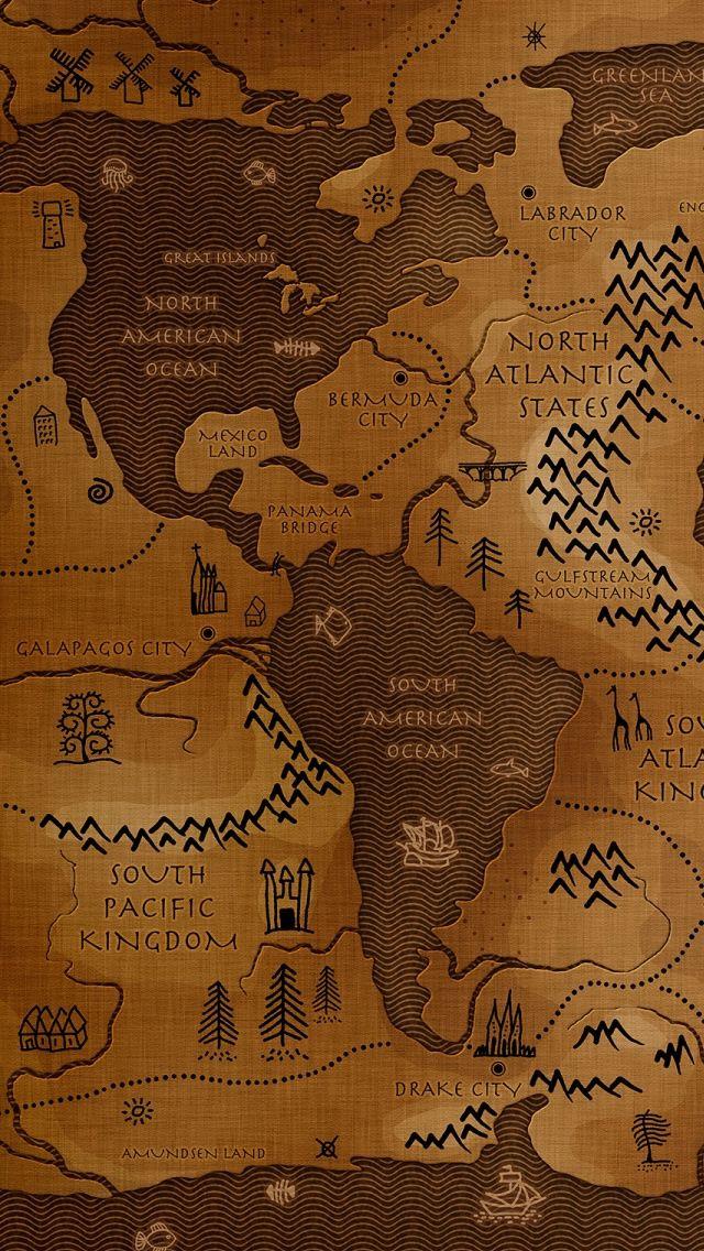 World Map IPhone S Wallpaper Worldly Wallpaper Pinterest - World map ipad wallpaper