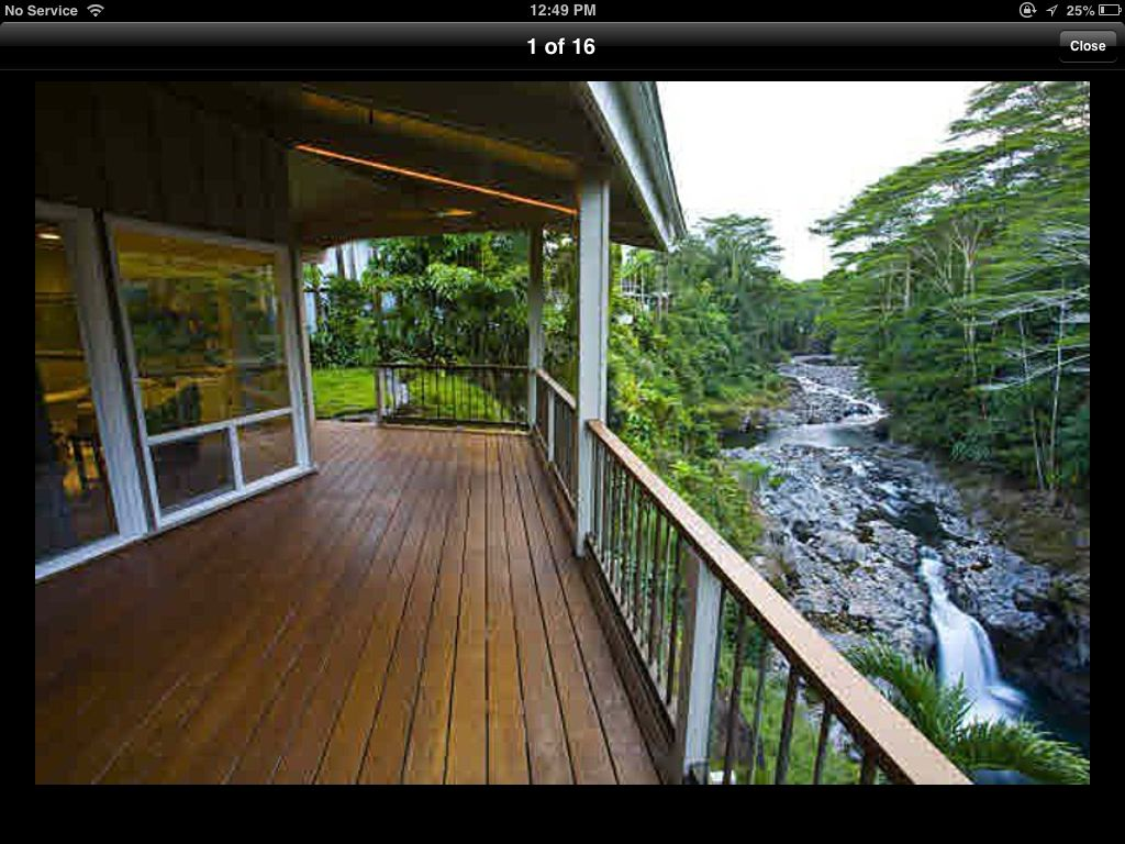 The waterfall view is a prerequisite for the ultimate