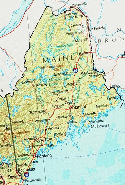 Maine Lucky Me Ive Been To Portland And Booth Bay Harbor Maine - Road map of maine usa