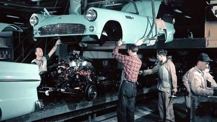 1955 ford thunderbird assembly line assembly line ford