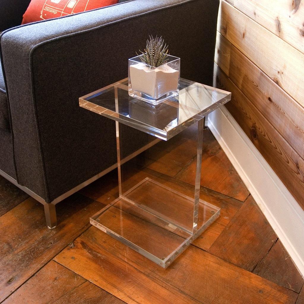 Acrylic I-Beam Table   Acrylic side table, Modern accent ...
