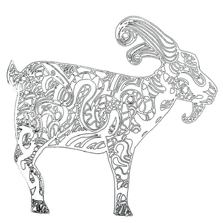 Goat Coloring Pages For Adults Coloring Pages Ideas Pinterest Coloring Pages Adult Coloring Pages Dan Cool Coloring Pages