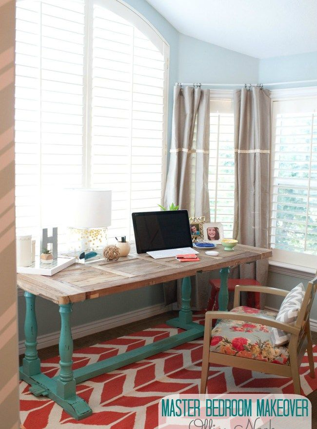 master bedroom office nook at tatertots and jello