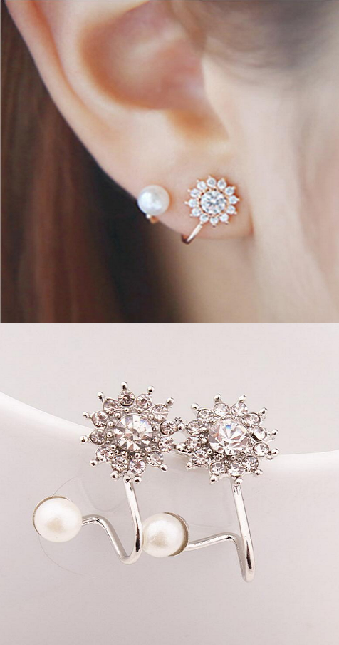 Earrings 12pairs/set Fashion Pearl Stud For Women Hot Selling Triangle/star/round Bow Small Earring Set Mix Ear Stud Cool In Summer And Warm In Winter Stud Earrings
