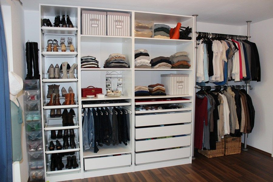 IKEA Pax Schrank selber gestalten | Begehbarer Kleiderschrank / IKEA ...