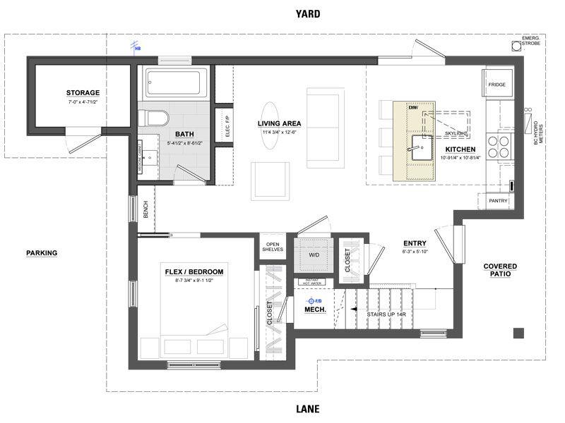 Arbutus floor plan vancouver laneway house House Plans – Laneway House Floor Plans